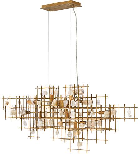 Petra 10 Light 40 Inch Er Gold Linear Chandelier Ceiling