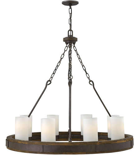 Fredrick Ramond FR48439IRN Cabot 8 Light 38 inch Rustic Iron Chandelier Ceiling Light, Single Tier photo