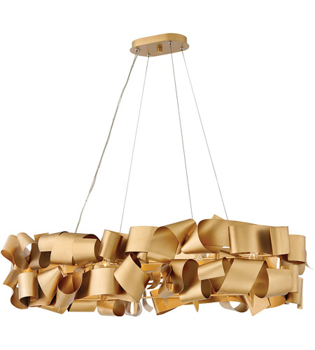 Delfina 6 Light 40 Inch Deluxe Gold Linear Chandelier Ceiling