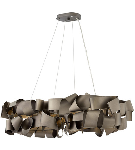 Fredrick Ramond FR48605MMB Delfina 6 Light 40 inch Metallic Matte Bronze Linear Chandelier Ceiling Light  photo