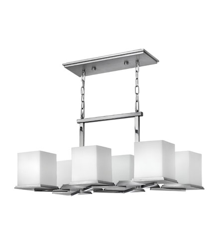Fredrick Ramond Soho 6 Light Chandelier in Steel Graphite and Chrome FR49356SGC photo