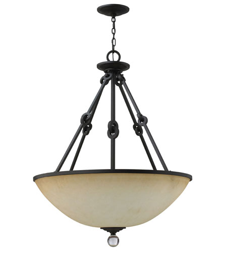 Fredrick Ramond Cabrello 6 Light Foyer Light in Black Iron FR49462BLI photo