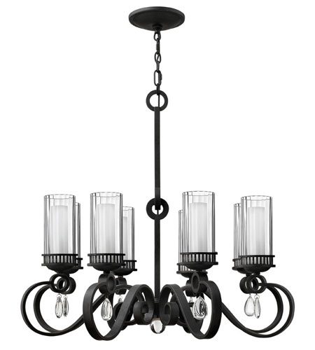 Fredrick Ramond Cabrello 8 Light Chandelier in Black Iron FR49464BLI photo