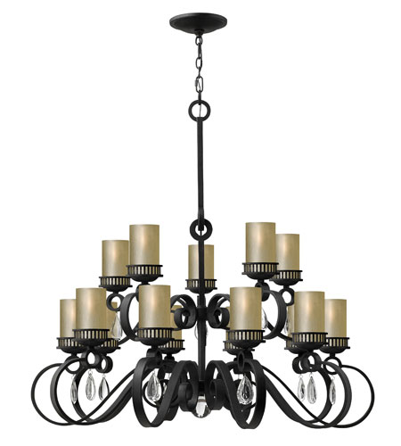 Fredrick Ramond Cabrello 15 Light Chandelier in Black Iron FR49478BLI photo