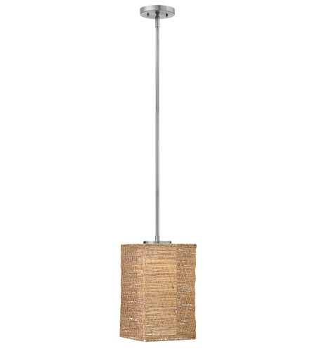 Fredrick Ramond FR30825BNI Maya 1 Light 8 inch Brushed Nickel Mid-Pendant Ceiling Light in Sesame photo