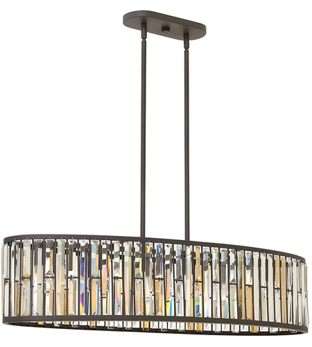 Fredrick Ramond FR33738VBZ Gemma 6 Light 45 inch Vintage Bronze Foyer Light Ceiling Light photo