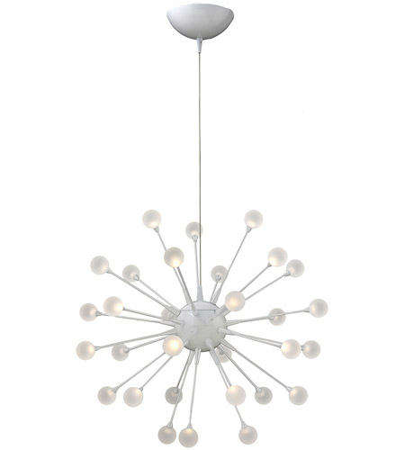 Fredrick Ramond FR44413CLD Impulse LED 24 inch Cloud Chandelier Ceiling Light, Single Tier photo