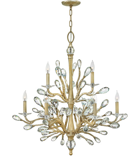 Fredrick Ramond FR46809CPG Eve 9 Light 34 inch Champagne Gold Chandelier Ceiling Light photo