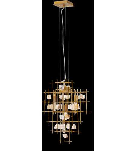 Fredrick Ramond FR47884LGD Petra 4 Light 24 inch Luster Gold Chandelier Ceiling Light, Single Tier alternative photo thumbnail