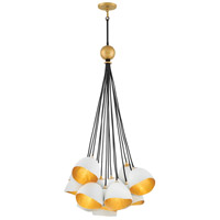 Fredrick Ramond 35906SHW Nula 15 Light 26 inch Shell White Cluster Pendant Ceiling Light