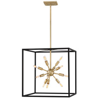 Fredrick Ramond 46314BLK Aros 12 Light 20 inch Black Chandelier Pendant Ceiling Light