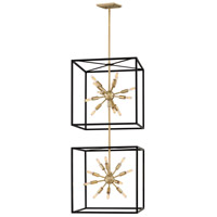 Fredrick Ramond 46316BLK Aros 24 Light 20 inch Black Chandelier Ceiling Light, Two Tier