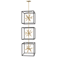 Fredrick Ramond 46318BLK Aros 36 Light 20 inch Black Chandelier Ceiling Light, Three Tier