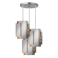 Stratus 3 Light 18 inch Brushed Nickel Pendant Ceiling Light