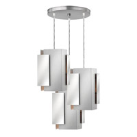 Stratus 3 Light 18 inch Polished and Brushed Aluminum Pendant Ceiling Light