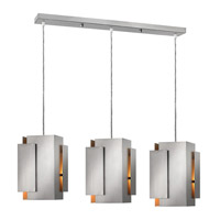 Fredrick Ramond FR30409BNI Stratus 3 Light 37 inch Brushed Nickel Pendant Ceiling Light photo thumbnail