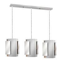 Stratus 3 Light 37 inch Polished and Brushed Aluminum Pendant Ceiling Light
