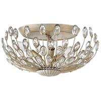 Fredrick Ramond FR31023SLF Tulah 3 Light 15 inch Silver Leaf Flush Mount Ceiling Light