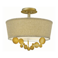 Fredrick Ramond Barolo 3 Light Semi Flush in Spanish Gold FR31241SPG