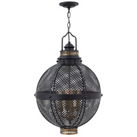 Miramar 4 Light 18 inch Black Foyer Light Ceiling Light