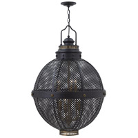 Miramar 6 Light 24 inch Black Foyer Ceiling Light, Two Tier