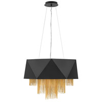 Fredrick Ramond FR32805SBK Zuma 8 Light 26 inch Satin Black Chandelier Ceiling Light, Single Tier