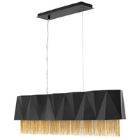Fredrick Ramond FR32806SBK Zuma 5 Light 43 inch Satin Black Linear Chandelier Ceiling Light