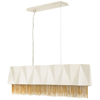 Zuma 5 Light 43 inch Warm White Linear Chandelier Ceiling Light