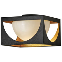 Fredrick Ramond FR33001ABK Vega 1 Light 12 inch Anvil Black Flush Mount Ceiling Light