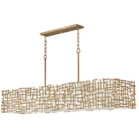 Fredrick Ramond FR33109BNG Farrah 10 Light 60 inch Burnished Gold Chandelier Ceiling Light