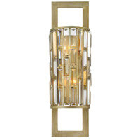 Gemma 2 Light 8 inch Silver Leaf Sconce Wall Light