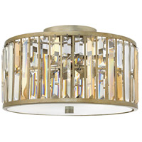 Gemma 3 Light 17 inch Silver Leaf Foyer Flush Mount Ceiling Light