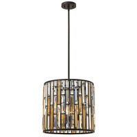 Fredrick Ramond FR33734VBZ Gemma 3 Light 16 inch Vintage Bronze Foyer Pendant Ceiling Light