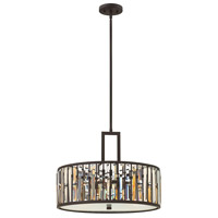 Fredrick Ramond FR33735VBZ Gemma 3 Light 21 inch Vintage Bronze Pendant Ceiling Light