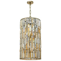 Gemma 6 Light 16 inch Silver Leaf Foyer Pendant Ceiling Light