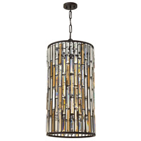 Fredrick Ramond FR33736VBZ Gemma 6 Light 16 inch Vintage Bronze Foyer Pendant Ceiling Light Large