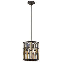 Gemma 1 Light 10 inch Vintage Bronze Mini-Pendant Ceiling Light