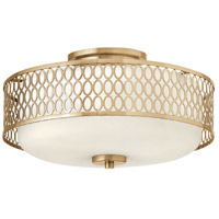 Jules 3 Light 15 inch Brushed Gold Semi Flush Mount Ceiling Light