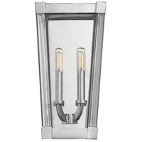 Empire 2 Light 8 inch Polished Nickel Sconce Wall Light
