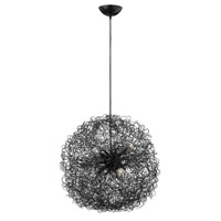 Fredrick Ramond Ion 6 Light Chandelier in Anodized Black FR36504ANB photo thumbnail