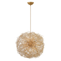Fredrick Ramond FR36504ANG Ion 6 Light 22 inch Anodized Gold Chandelier Ceiling Light photo thumbnail
