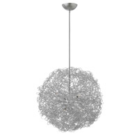 Ion 6 Light 22 inch Anodized Silver Chandelier Ceiling Light