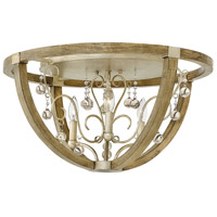 Abingdon 3 Light 24 inch Silver Leaf Flush Mount Ceiling Light