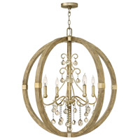 Abingdon 4 Light 30 inch Silver Leaf Foyer Ceiling Light, Single Tier