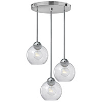 Vivo 3 Light 19 inch Polished Chrome Pendant Ceiling Light