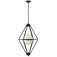 Fredrick Ramond FR37554BLK Spectra 2 Light 18 inch Black Foyer Ceiling Light
