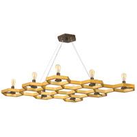 Fredrick Ramond FR38018SSG Moxie 8 Light 46 inch Sunset Gold Linear Chandelier Ceiling Light