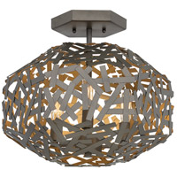 Fredrick Ramond FR38703MMB Kestrel 3 Light 16 inch Metallic Matte Bronze Semi-Flush Mount Ceiling Light