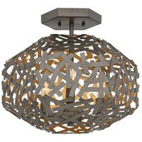 Fredrick Ramond FR38703MMB Kestrel 3 Light 16 inch Metallic Matte Bronze Semi-Flush Mount Ceiling Light