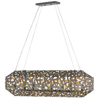 Fredrick Ramond FR38704MMB Kestrel 8 Light 40 inch Metallic Matte Bronze Linear Chandelier Ceiling Light